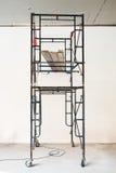 Ośniedziałego szafotu bielu pusta ściana Obraz Royalty Free