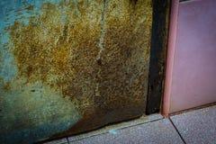 Ośniedziały łasowanie łazienki drzwi zdjęcia royalty free