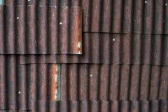 Ośniedziały cynkowy tekstury tło Fotografia Stock