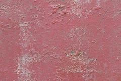 Ośniedziały czerwony metalu talerz jako tło Zdjęcia Royalty Free