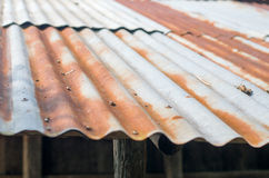 Ośniedziały dach Obrazy Stock