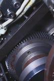 Ośniedziały gearwheel w przemysłowej technologii zdjęcie royalty free