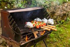 Ośniedziały grill Fotografia Stock