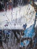 Ośniedziały i lodowaty błękit z aluzją czerwień na czerni Obraz Royalty Free