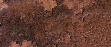 Ośniedziały, korodujący, strugający metal teksturę fotografia stock