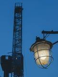 Ośniedziały lampion w Syberia Rosja Obraz Stock