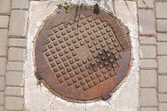 Ośniedziały manhole Obraz Royalty Free