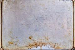 Ośniedziały metal textured talerz obrazy royalty free