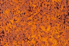Ośniedziały metal z krakingowym farby grunge tłem Obraz Royalty Free