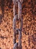Ośniedziały metalu łańcuch Obraz Royalty Free
