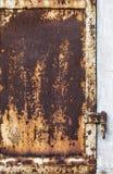 Ośniedziały metalu drzwi Obrazy Stock
