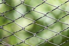 Ośniedziały metalu grille ogrodzenie makro- i natury tło Zdjęcie Stock