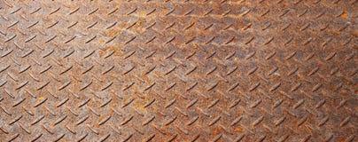 Ośniedziały metalu sztandaru tło Obrazy Stock