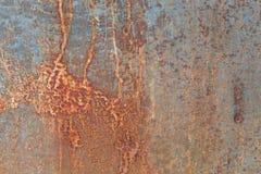 Ośniedziały metalu talerz dla tła Obraz Royalty Free