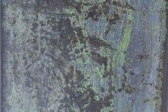 Ośniedziały metalu talerz dla tła Obrazy Royalty Free