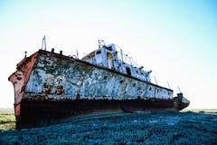Ośniedziały okręt wojenny Zdjęcia Royalty Free