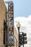 Ośniedziały rocznik Georgetown podpisuje wewnątrz washington dc Obrazy Royalty Free