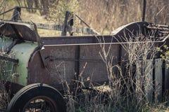 Ośniedziały rocznika siana Baler fury gospodarstwa rolnego wystrój obraz stock