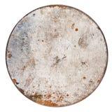 Ośniedziały round metalu talerz Zdjęcie Royalty Free