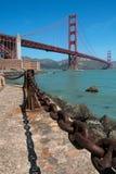 Ośniedziały stary łańcuch, Golden gate bridge Zdjęcia Stock