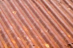 Ośniedziały stary cyna dachu tekstury tło zdjęcie stock