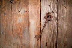 Ośniedziały stary klucz od synagoga Fotografia Royalty Free