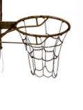 Ośniedziały stary kosz dla netball, koszykówka fotografia royalty free