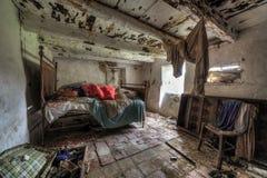 Ośniedziały sypialni hdr Obrazy Stock