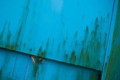 Ośniedziały zbiornika drzwi Zdjęcia Stock