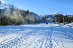 Ośrodek narciarski Bansko, Bułgaria, narciarski dźwignięcie Fotografia Stock