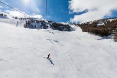 Ośrodek narciarski Les Orres, Hautes-Alpes, Francja zdjęcia royalty free
