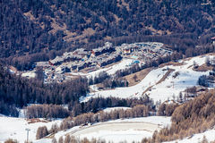 Ośrodek narciarski Les Orres, Hautes-Alpes, Francja obraz royalty free