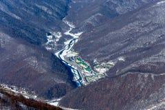 Ośrodek narciarski Rosa Khutor Góry Krasnaya Polyana 2014 2018 filiżanki gier olimpijski Russia Sochi zima świat Fotografia Stock