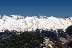 Ośrodek narciarski Rosa Khutor Góry Krasnaya Polyana 2014 2018 filiżanki gier olimpijski Russia Sochi zima świat Obrazy Royalty Free