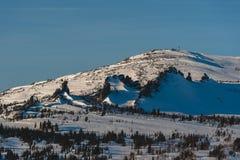 Ośrodek narciarski Sheregesh, Tashtagol okręg, Kemerovo region, Rosja Zdjęcia Royalty Free