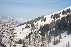 Ośrodek narciarski Zell am Widzii obrazy royalty free