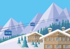 Ośrodka narciarskiego dzień Fotografia Stock