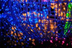 Oświetleniowa dekoracja w świętowanie nocy Fotografia Stock