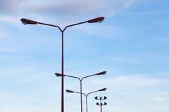 Oświetleniowi słupy Zdjęcie Royalty Free