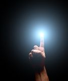 Oświetleniowy palec Zdjęcia Royalty Free
