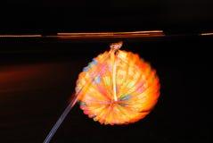 Oświetleniowy papierowy lampion w ręce Fotografia Royalty Free