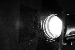 Oświetleniowy przyrząd na miejscu ekranizacja zdjęcia stock