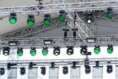 Oświetleniowy wyposażenie plenerowa scena Zdjęcie Stock