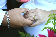 ożenić się z rąk Obrazy Stock