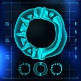 O信件传染媒介 资本数字 伦X-射线字体光标志 医疗放射学霓虹扫描作用 字母表 3d蓝色 皇族释放例证