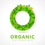 O有机绿色商标 向量例证
