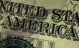 O ¡ de Ð perde-acima de uma parte do dólar americano Imagem de Stock Royalty Free