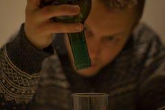 O álcool fá-lo estúpido Foto de Stock Royalty Free