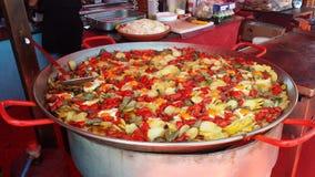 O árabe introduz no mercado a Espanha de Ibiza Fotografia de Stock