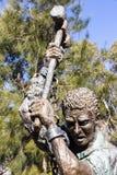 O Sculpture memorável do ` dos construtores de estrada em Novo Gales do Sul, Au foto de stock